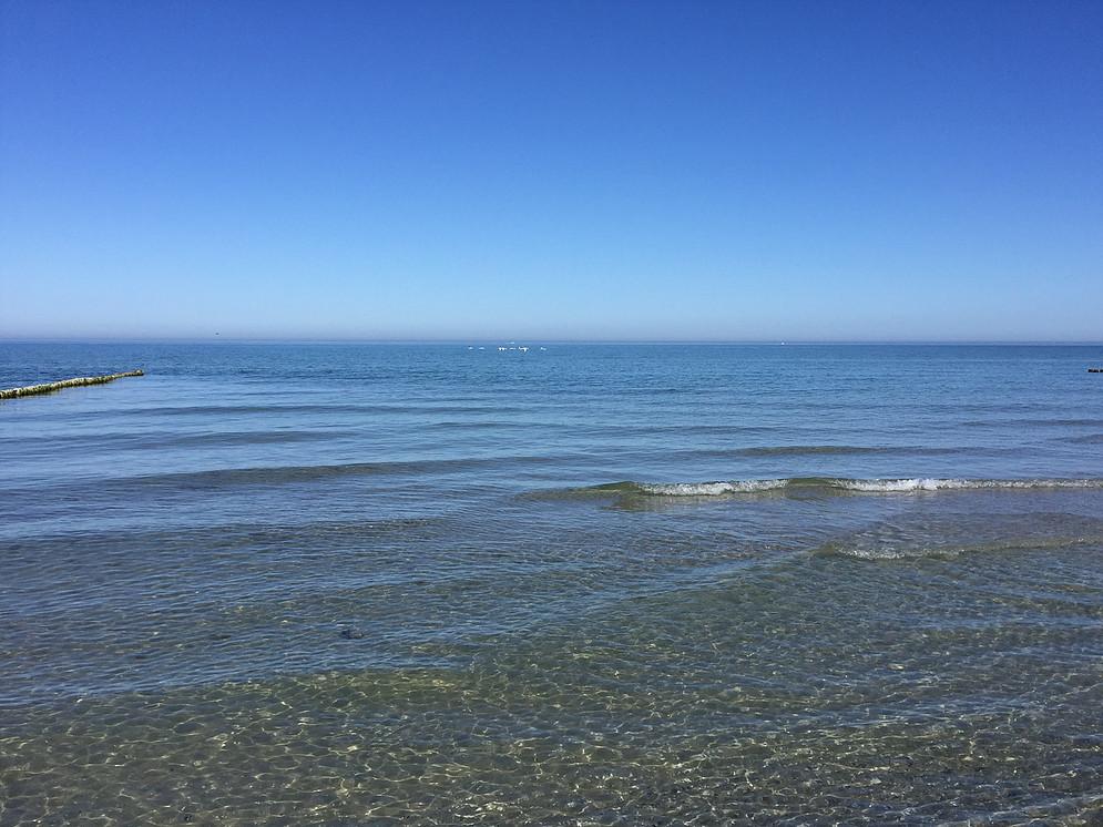 ruhige Ostsee im Sommer Ferienwohnung mieten Vitte Feuer