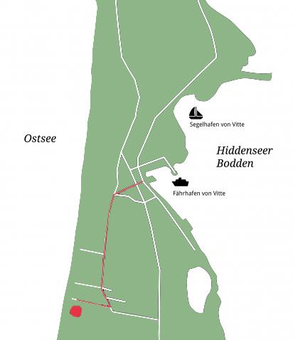 Anreise Ferienwohnung Feuer ehemals Feuerstübchen Hiddensee