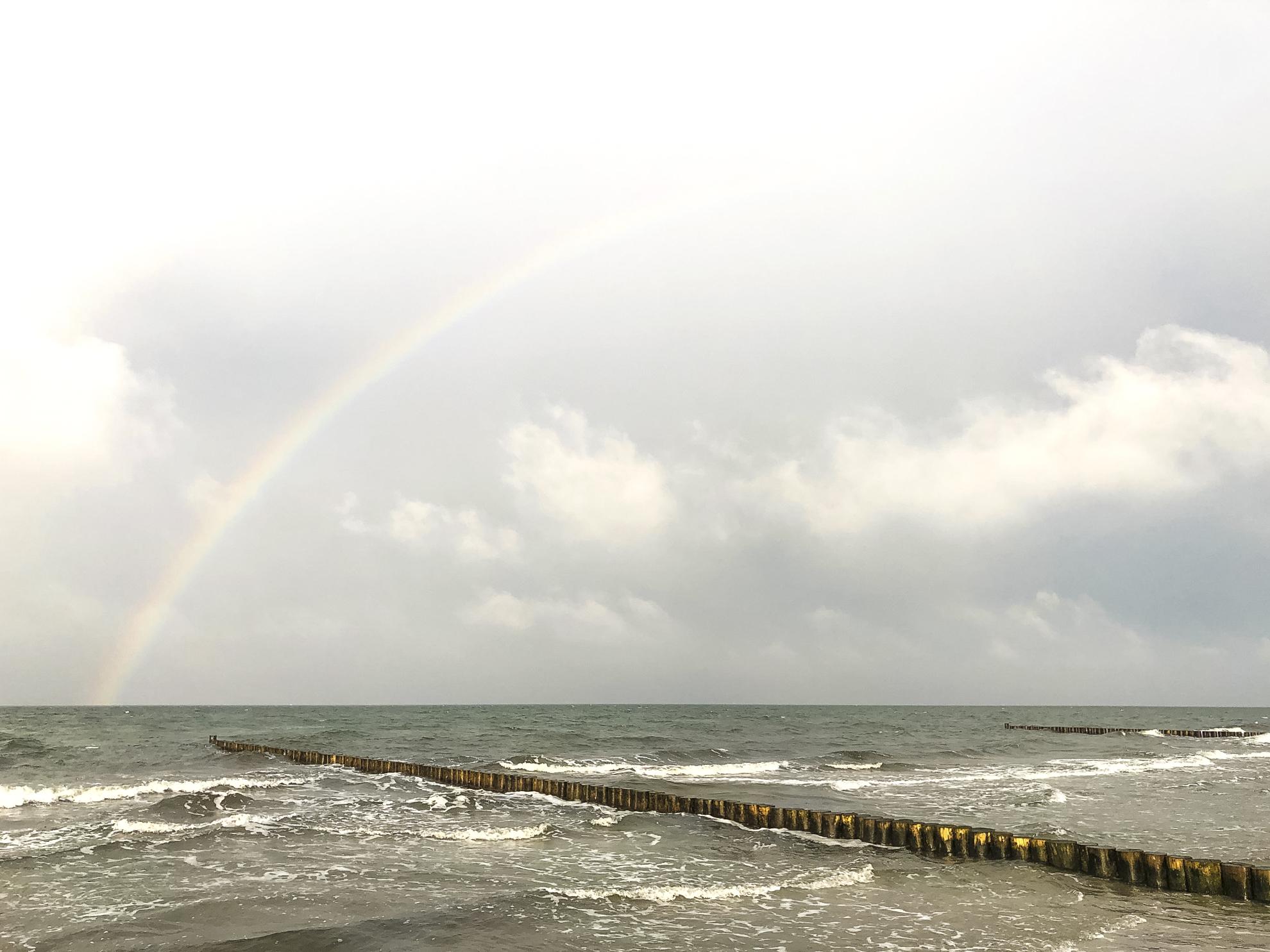 Hiddensee Vitte Strand Ostsee Regenbogen Glück